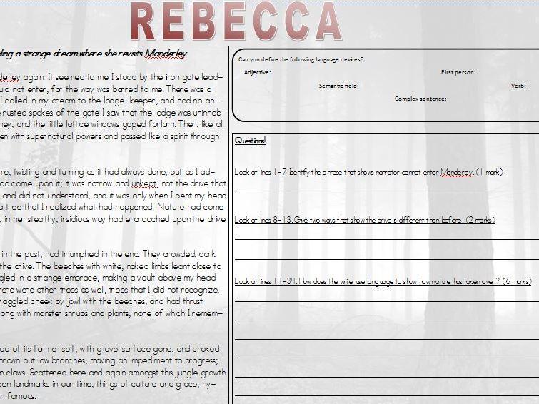 Rebecca 19th Century GCSE English
