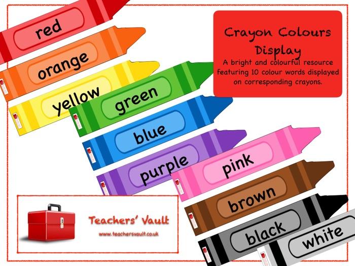 Crayon Colours Display
