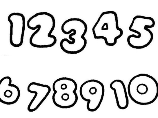 German numbers 1-10 - cut and paste