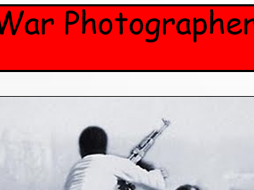 GCSE/IGCSE KS4 'War Photographer' by Carol Ann Duffy