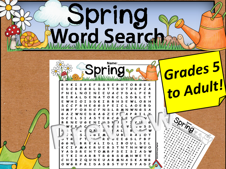 Spring Word Search *Hard*
