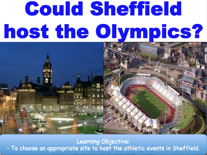 Could Sheffield Host the Olympics? Exploring Urban Development