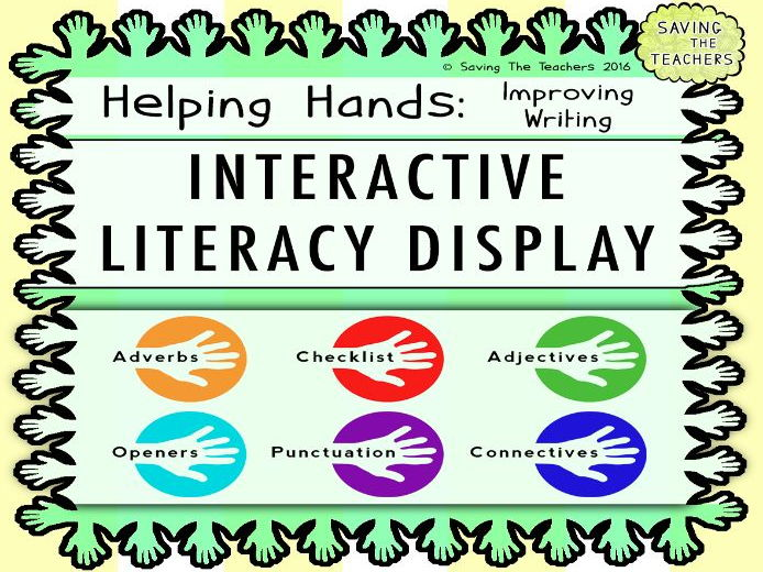 Interactive Literacy Display &  Writing Help Cards: Improving Writing