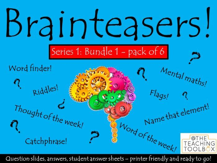 Brainteasers - Series 1 - Bundle 1 -  Form / Tutor Time Quiz Activity