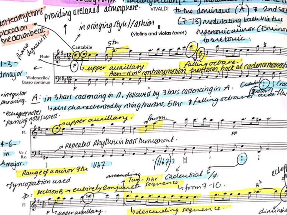 Vivaldi Flute Concerto in D major Op. 10 No.3 'II Gardellino' (RV 428) II