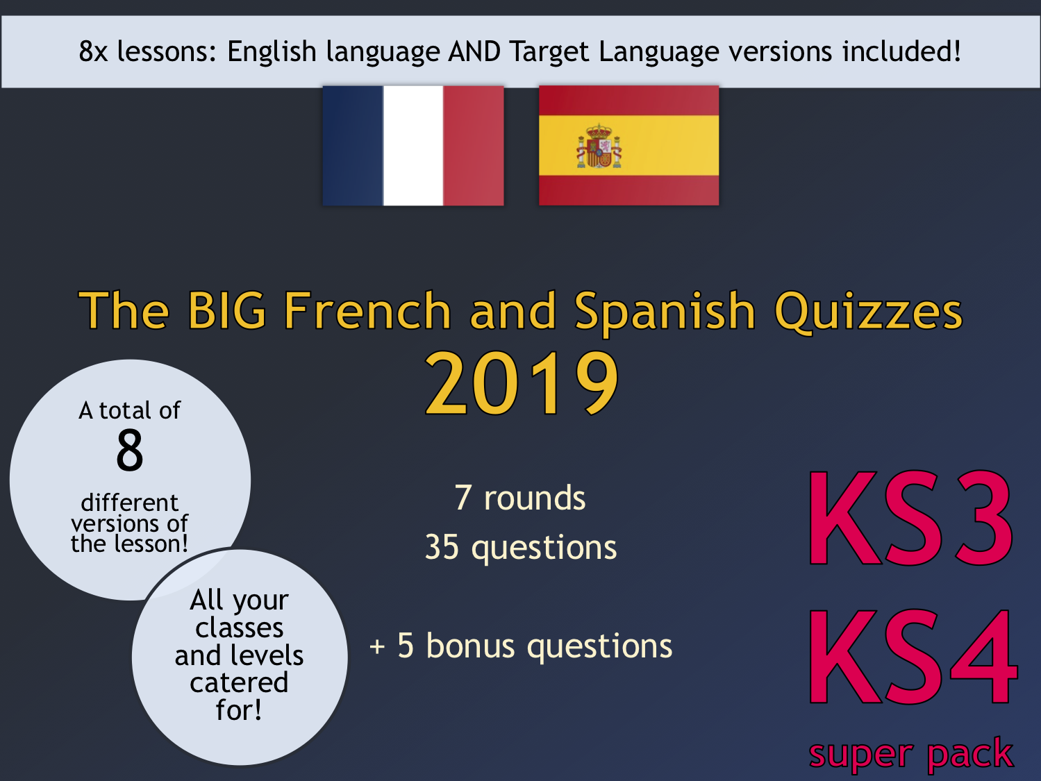 The BIG Language Quizzes Super Pack