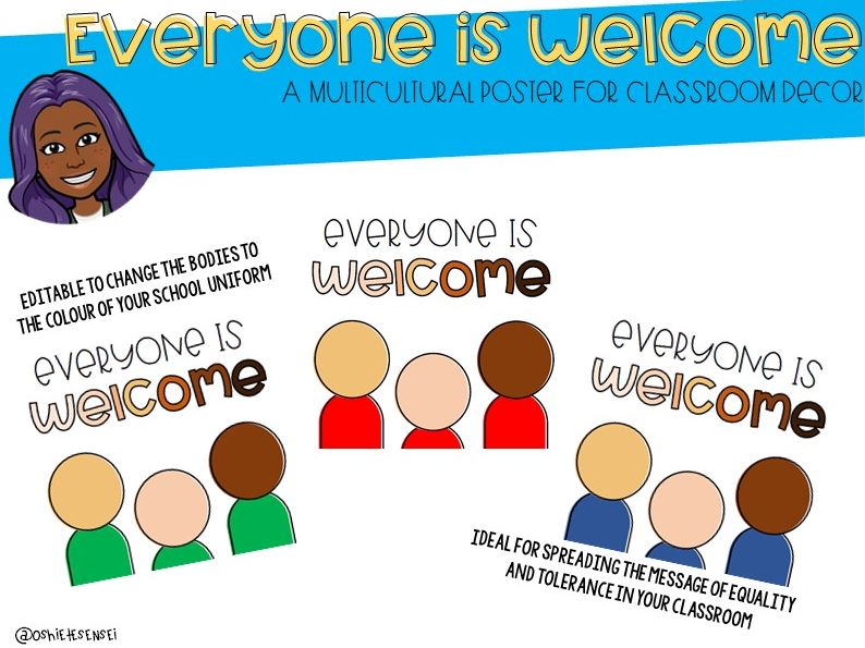 [EDITABLE] Everyone is Welcome Poster