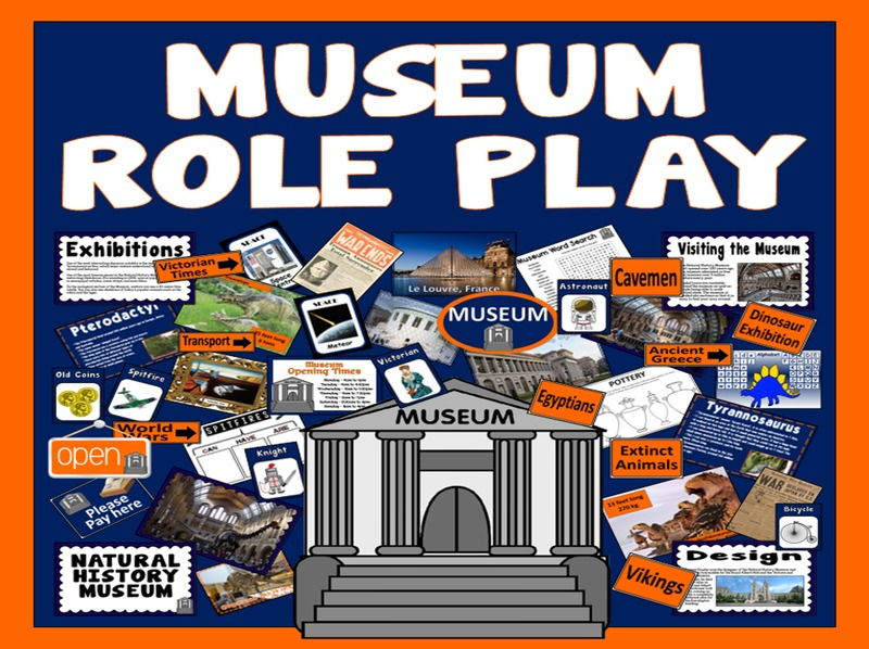 MUSEUM ROLE PLAY SHOP TEACHING RESOURCES KS1 KS2 HISTORY SCIENCE DINOSAURS