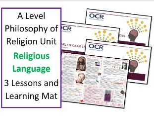 Philosophy of Religion: Religious Language - Unit of 3 Lessons and Revision