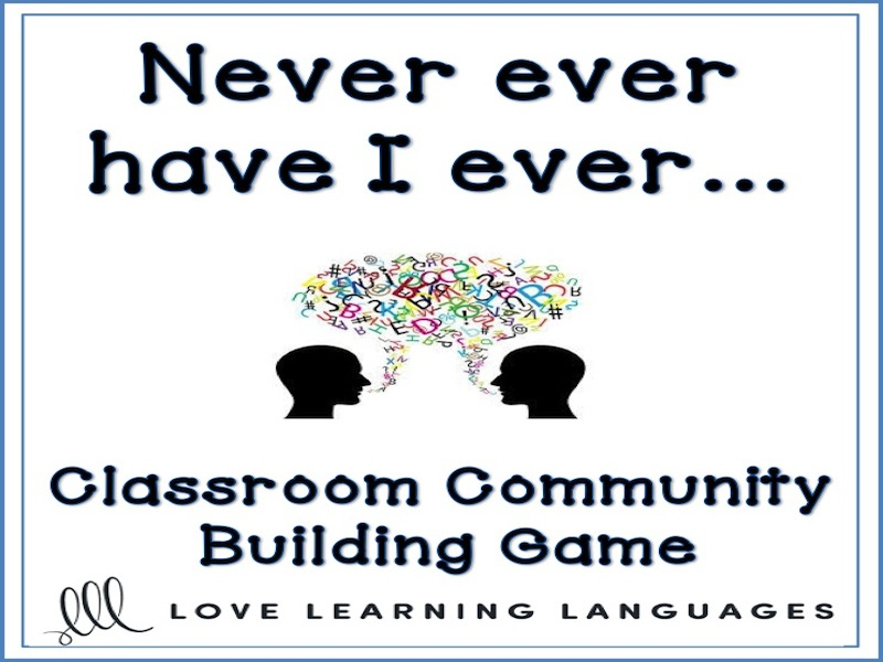 Never, ever have I ever - Classroom community building activity
