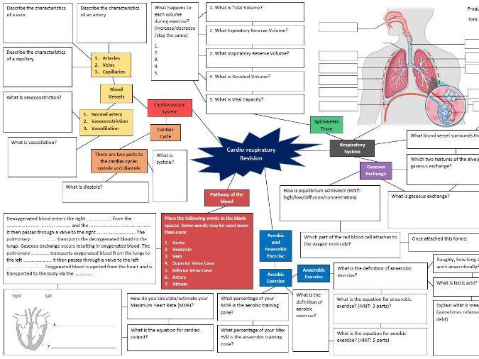 Cardio-Respiratory Revision Mind Map