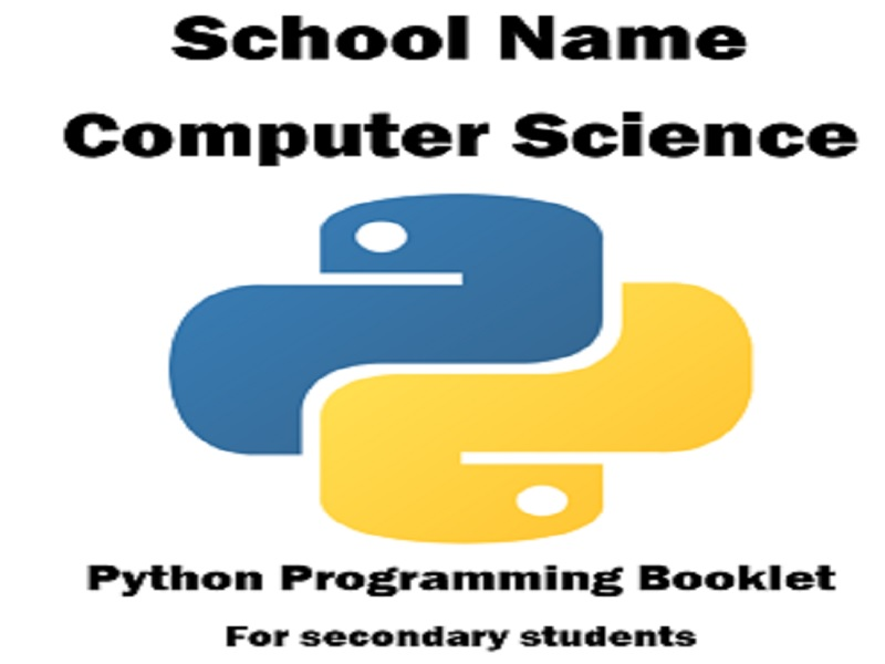 Python Programming Booklet for Secondary Students and Teachers