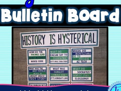 World History Jokes Bulletin Board - Classroom Posters