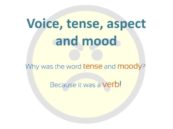 Grammar - verb voice, tense, aspect and mood introduction