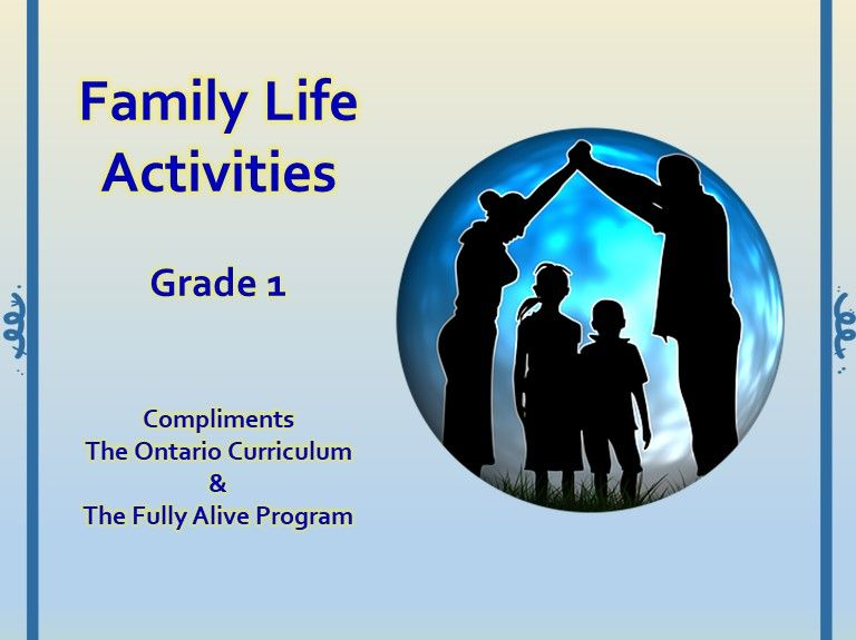 Family Life Activities-Grade 1