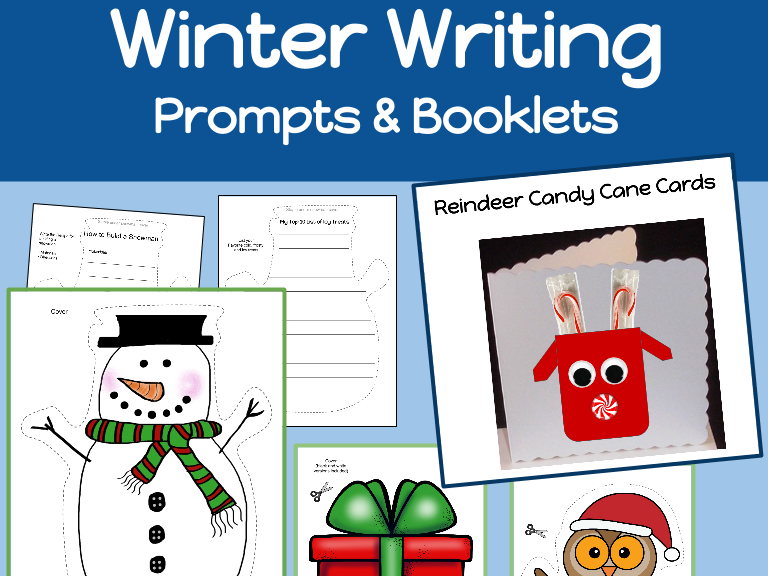 Winter Writing Booklets and Writing Prompts