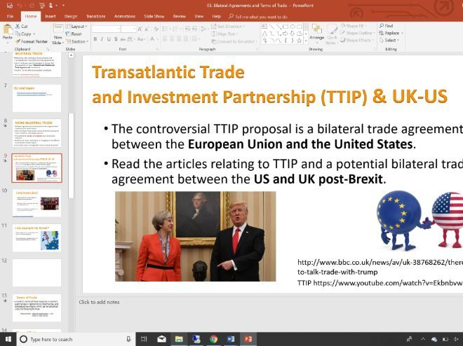 05 Bilateral Agreement Terms Of Trade Slides Activities And