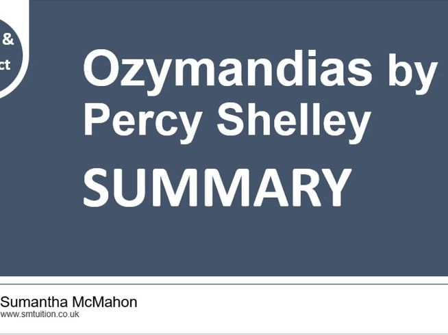 Quick GCSE Poetry Revision: Ozymandias by Percy Shelley