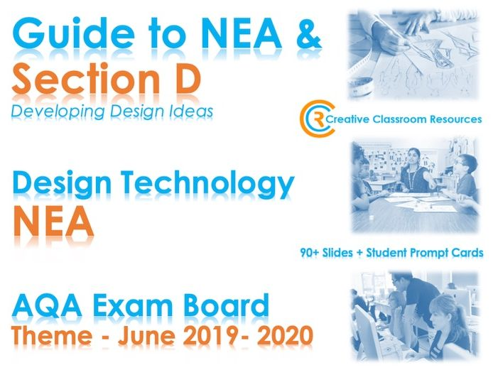 GCSE DT NEA AQA Guide to Section D – Developing Design Ideas - NEW & IMPROVED!