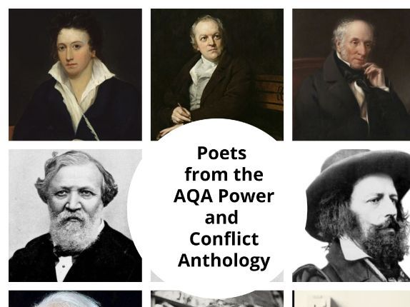Poets from the AQA Power and Conflict Anthology Display