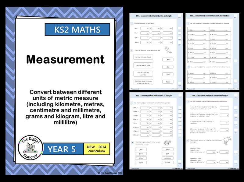 Year 5 - Convert units of metric measure (length, weight, volume) - Measurement White Rose (MASTERY)