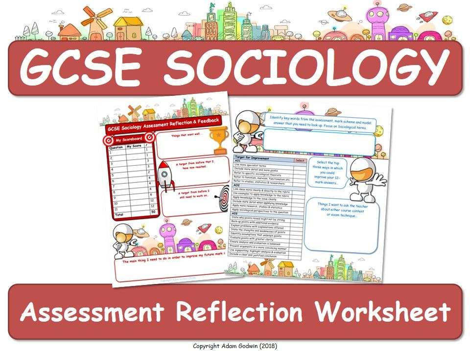 Assessment Feedback Worksheet - GCSE Sociology (AQA) [DIRT AfL]