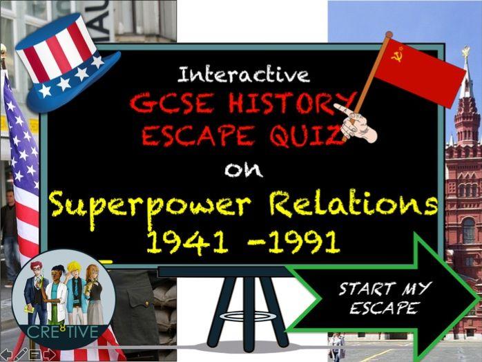 Superpower Relations 1941 - 1991 Cold War Escape Quiz