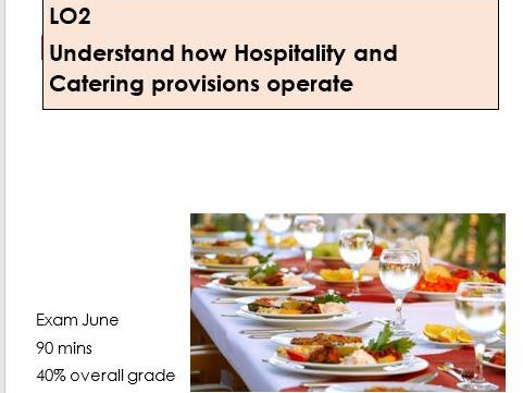 WJEC/Eduqas Level 1/2 Hospitality and catering LO2