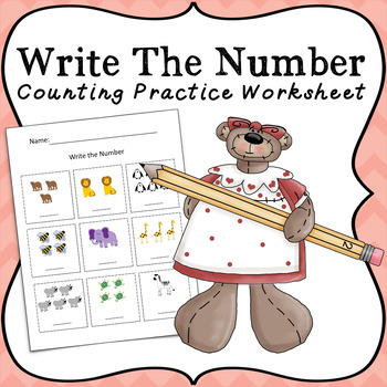 FREE Write The Number Worksheet for Maths and Counting Practice