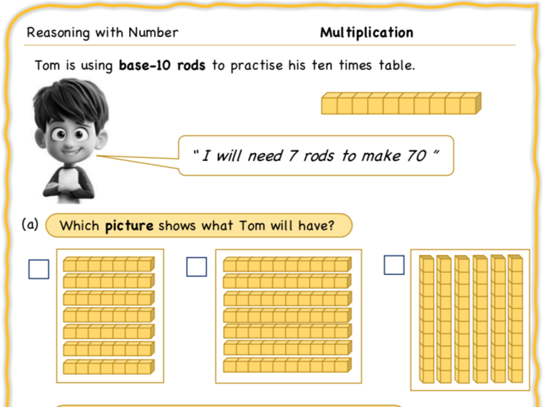 Year 1 Maths: Reasoning with Multipl(x)