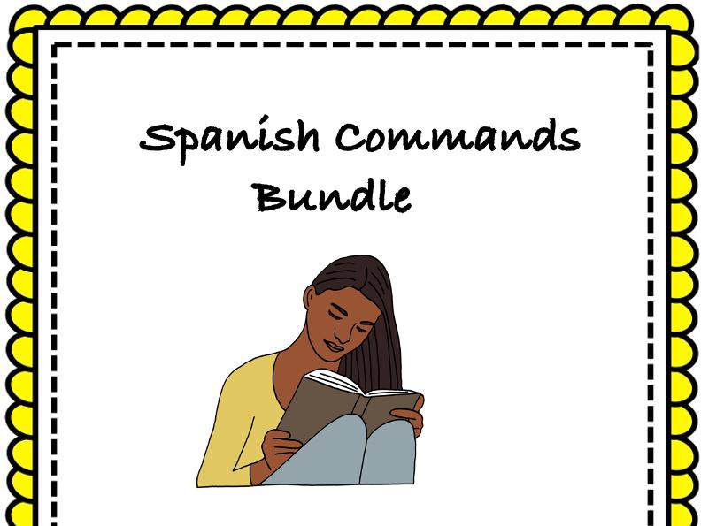 Spanish Commands Bundle: Mandatos y Imperativos: 5 Resources @35% 0ff!
