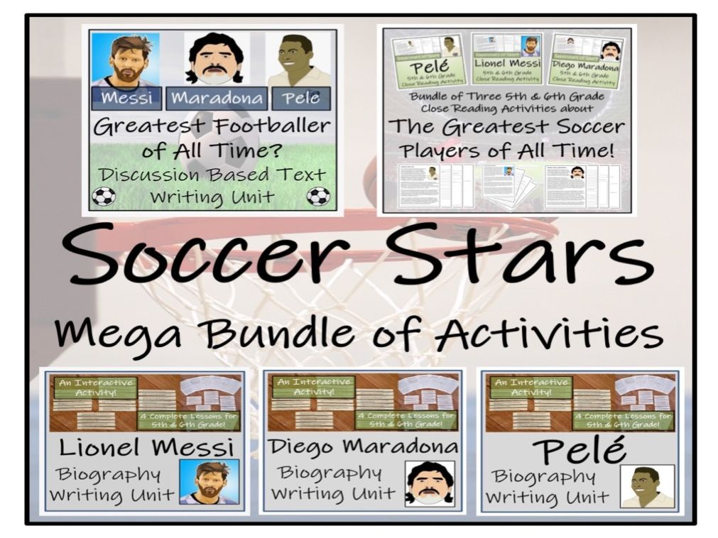 UKS2 Literacy - Greatest Football Stars Reading Comprehension & Writing Mega Bundle