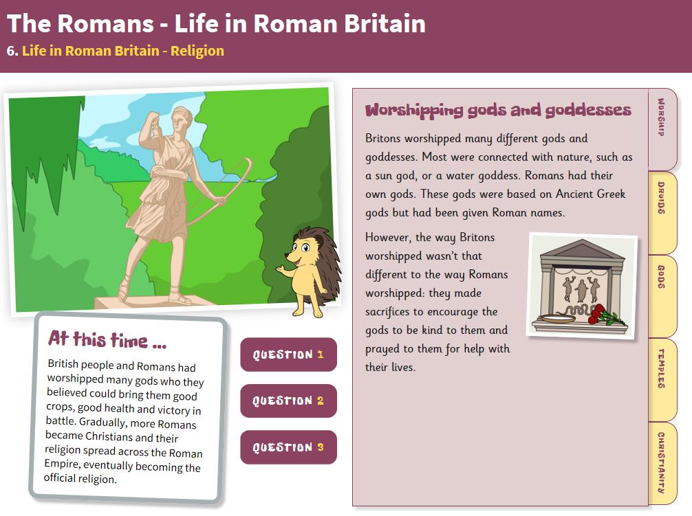 Religion - Interactive Teaching Book - Roman Britain KS2
