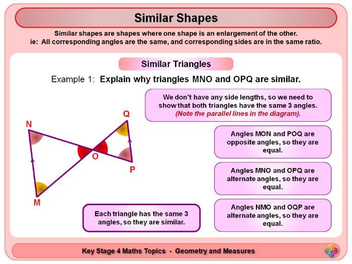 Similarity and Congruence KS4