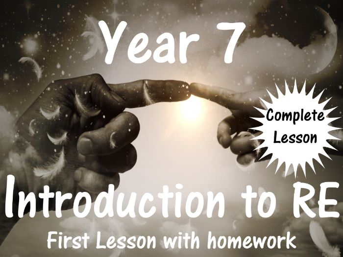 Year 7 Introduction to RE (Full Lesson with homework task)