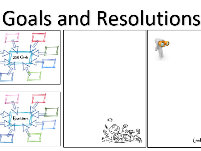 Goals and Resolutions Writing Templates