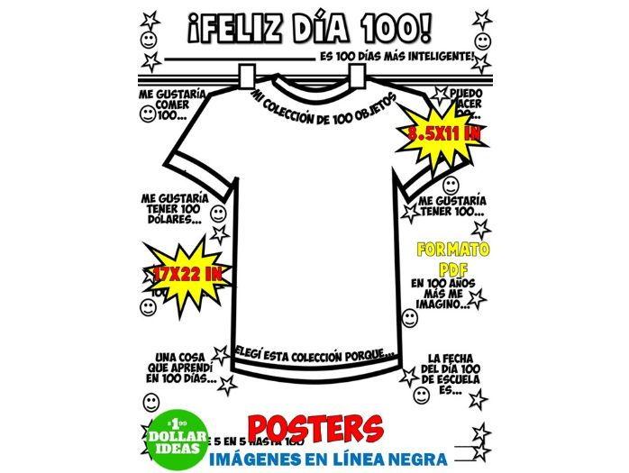 100 DÍAS DE ESCUELA | ACTIVIDADES | POSTER| CAMISETA