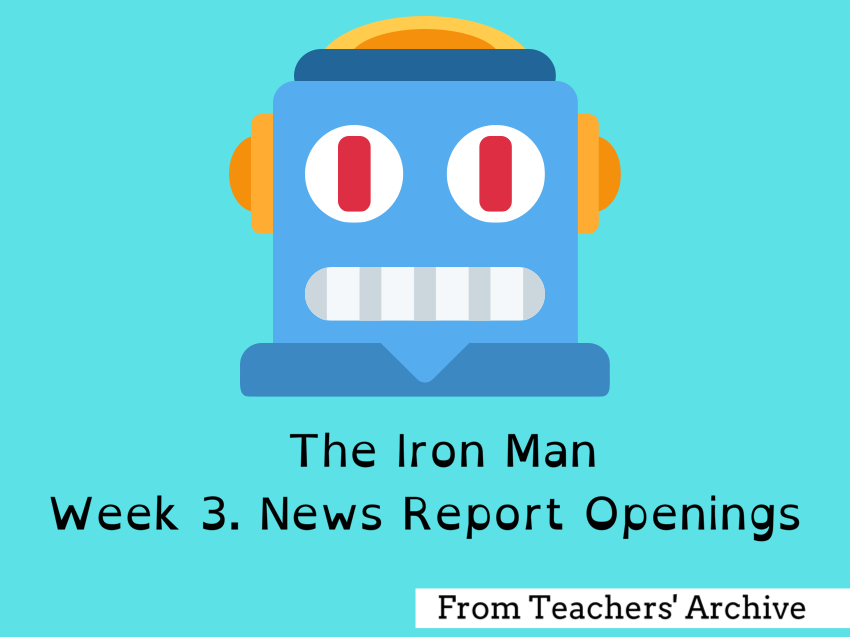 The Iron Man. Newspaper Report Openings.