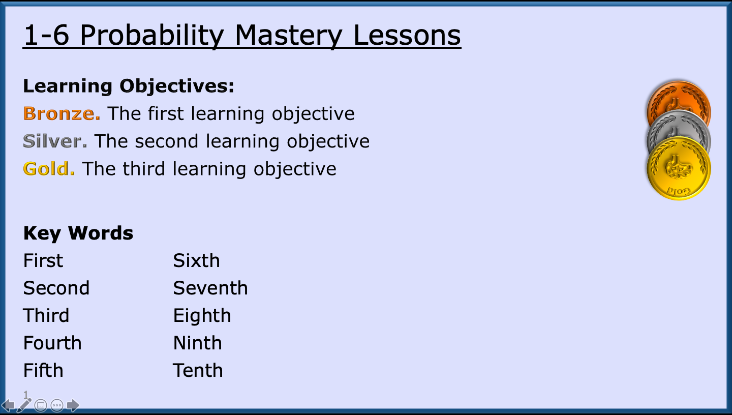 Lessons 1-6 of GCSE Probability Course