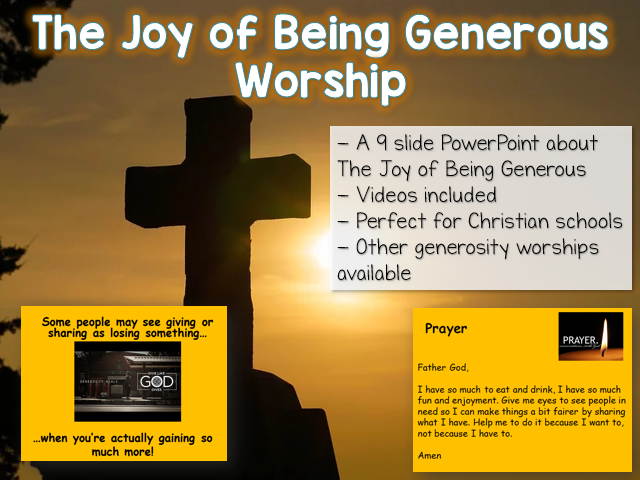 The Joy of Being Generous - Worship