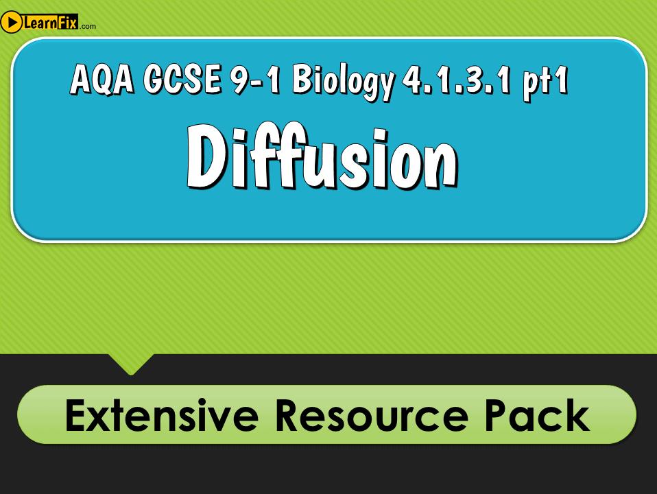 AQA GCSE Biology 9-1 Diffusion - Resource Pack
