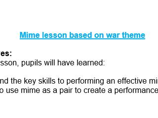 Mime Drama Lesson War Theme