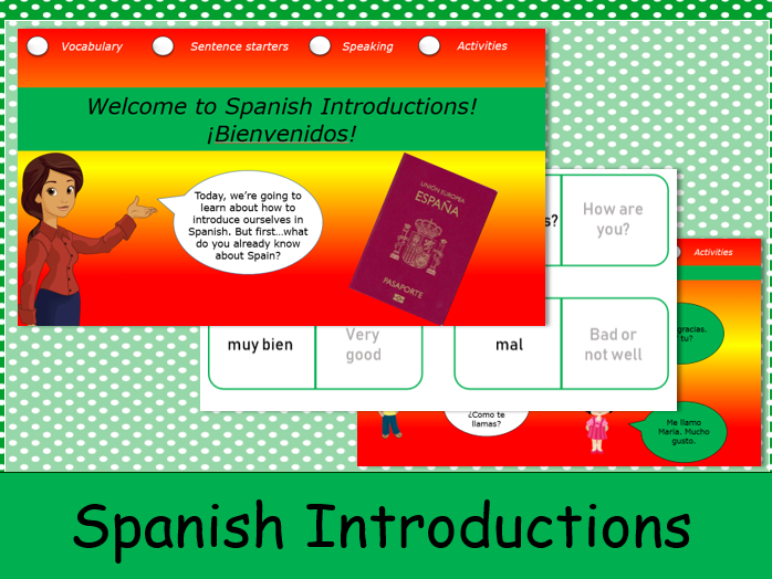 KS1 Spanish Introductions: Lesson 1