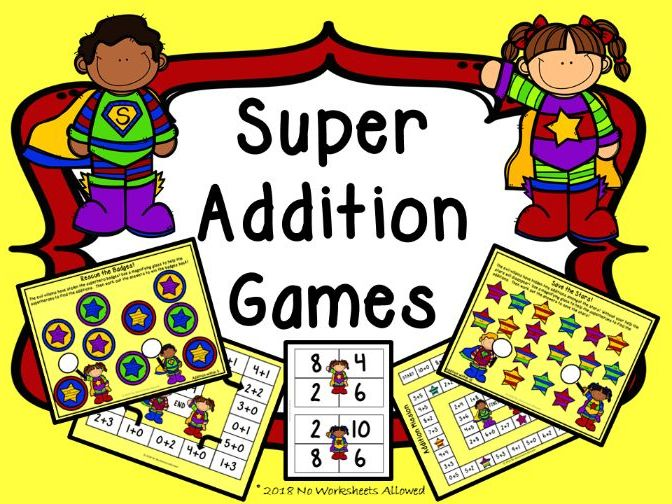 EYFS/Year 1 Addition Games
