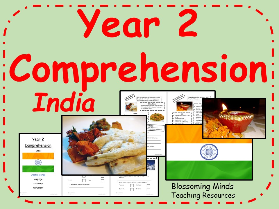 Year 2 Comprehension - non-fiction - India