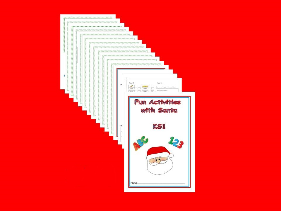 KS1 Fun with Santa Problem Solving Activity Booklet