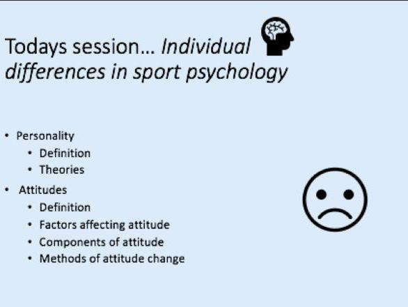 A-Level PE - Attitudes Lesson