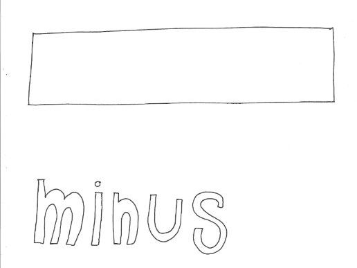 Minus: Mathematical Symbols Colouring Page