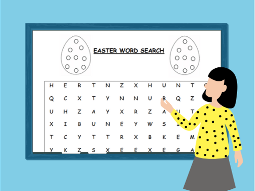 Easter Word Searches and Easter Egg Designs