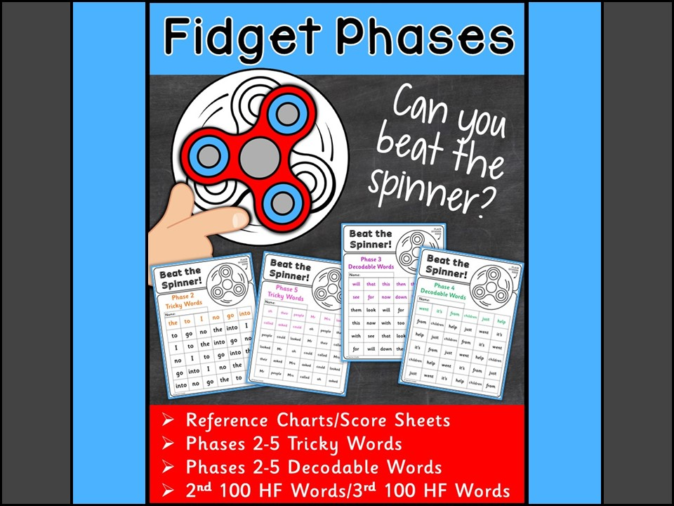 Fidget Phases: High Frequency Words